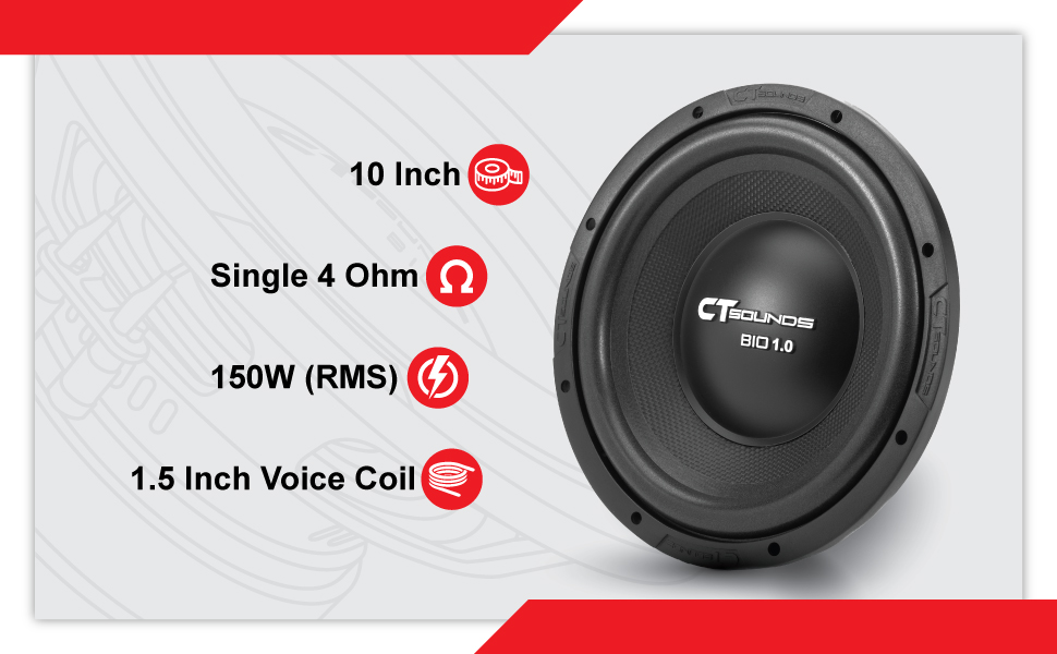 CT Sounds Bio 10 Inch S4 Subwoofer Technical Features