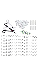 175 PIECE BODY JEWELRY BARBELL KIT