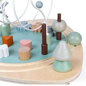 table d'activités sweet cocoon bois janod esthétique composition