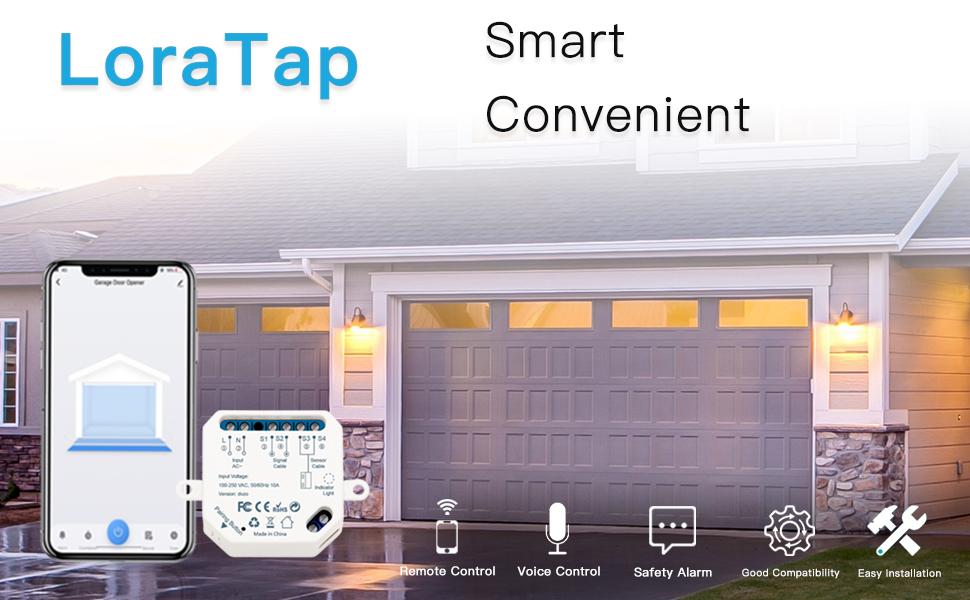 loratap smart garage door opener