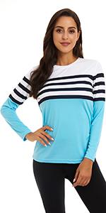 KINGFEN Women's UPF 50+ Sun Protection Thin Quick Dry Shirt Summer Hiking Top