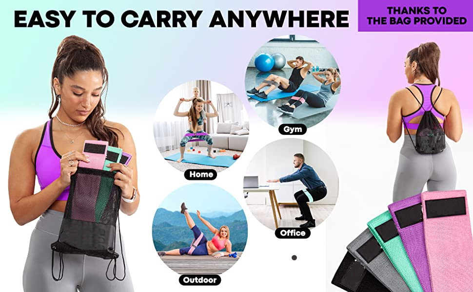 Roll over image to zoom in FirstFit Resistance Bands for Legs and Butt, Exercise Bands Set Hip Band