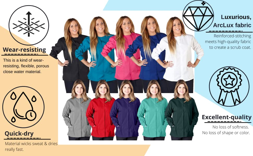 Medical Scrubs Jackets for Women's