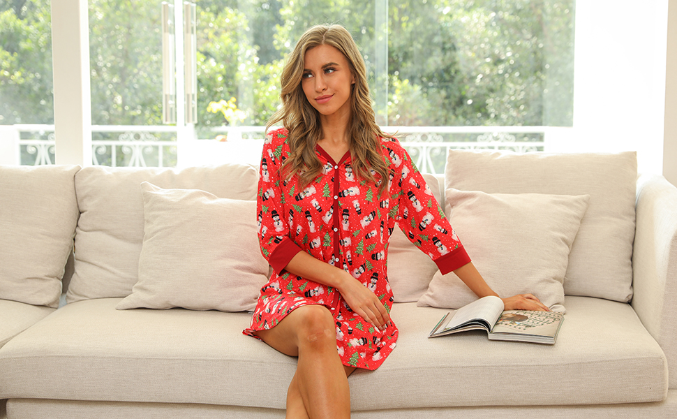 women's pajama dress
