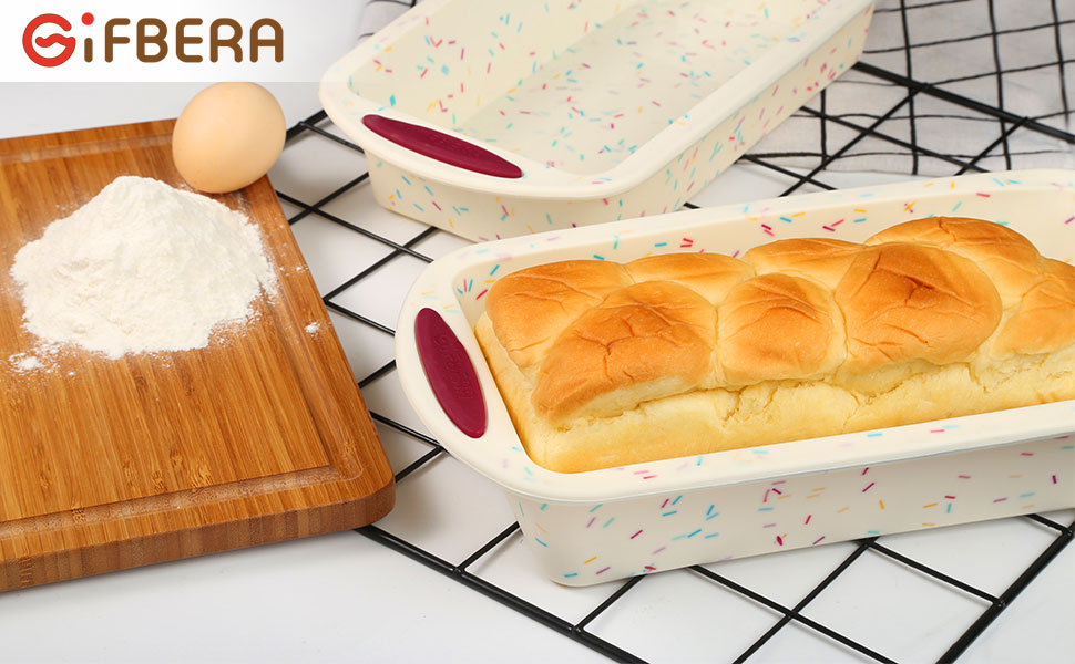 Gifbera Non stick silicone bread and loaf pan for baking