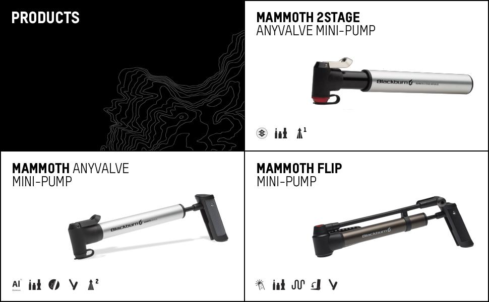 blackburn mammoth anyvalve 2stage flip bike mini pump