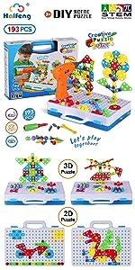 193 pieces STEM toy Drill building blocks puzzle Set