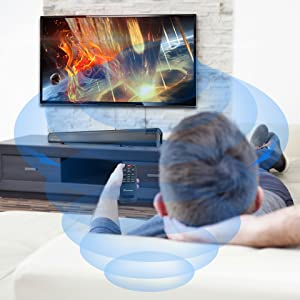 sound bar with remote control