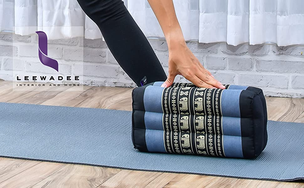 floor cushion pillow foldable meditation yoga seat block zen organic made in Thailand