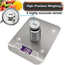 digital multifunction kitchen food scale