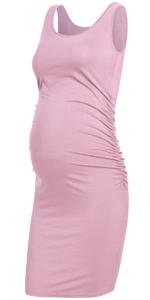 GLAMIX Maternity Ruched Tank Dress