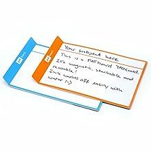 Agile 50 magneti scrivibili 7,5 x 7,5 cm con pennarello per lavagna bianca per Scrum 5 colori Mix Canban o Lean