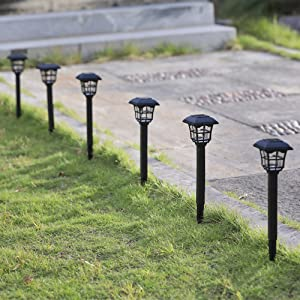 12 Pack Solar Powered Pathway Lights
