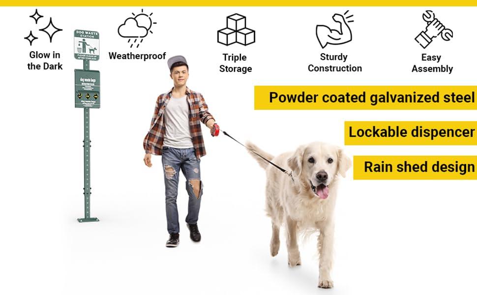 dog waste bag dispenser rainproof
