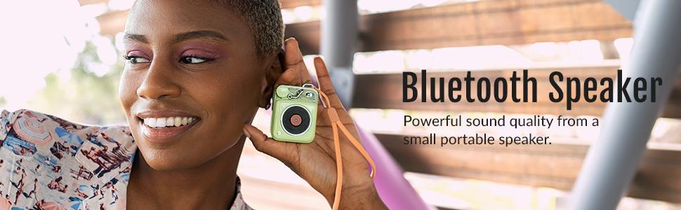 MUZEN Button Bluetooth Speaker-Key Lime