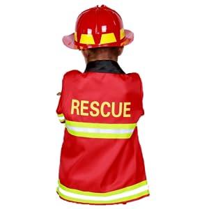 fireman back rescue man