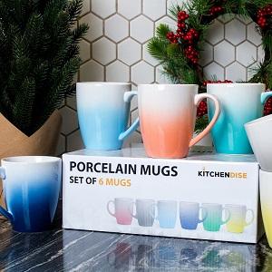 ombre color mugs