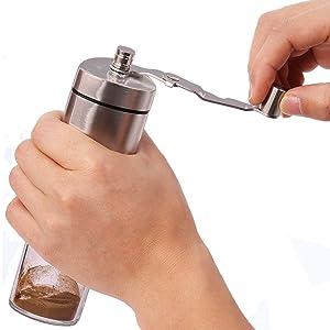 Coffee Grinder held
