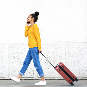 carry on luggage luggage set 22x14x9 suitcase hardside rolling spinner wheels samonite 20inch prime