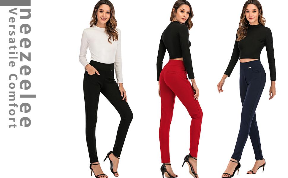 Dress Pants for Women Ponte Pants Comfort yoga leggings