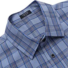 Men's Regular-fit Short Sleeve Plaid Shirts Casual Button Down Cotton Check Shirts with Pocket