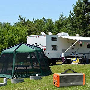 RV camping power station