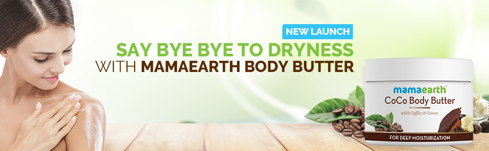 Mamaearth CoCo Body Cream Butter For Dry Skin Winters better than body lotion, with Coffee & Cocoa