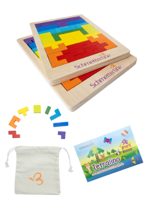 tetralino Extasticks wooden puzzle Waldorf tangram tanagram Russian blocks children kids brain IQ