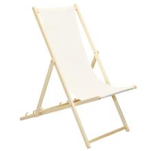 verstellbar traditionelles Design K/önigsblau klappbar Harbour Housewares Holz-Liegestuhl f/ür den Garten oder Strand