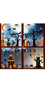 150Pcs Halloween window clings