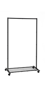 Amazon.com: SONGMICS Clothes Rack on Wheels, Heavy Duty ...