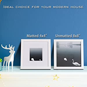 8x8 picture frames white table top