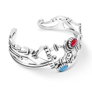sterling silver native american Fritz Casuse Dancing Native American Turquoise Red Coral
