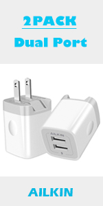 2PACK dual port wall charger