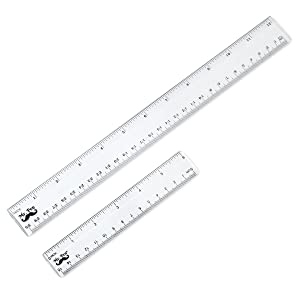 The plastic straight ruler is made of good quality plastic, durable and sturdy