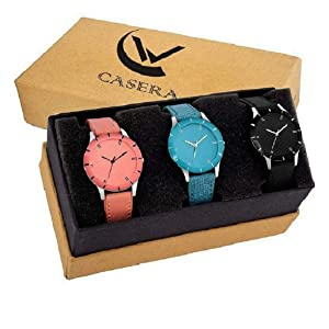 Combo of 3 Watches for Women And  Girls