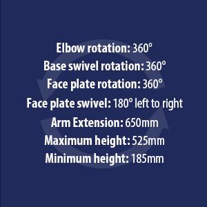 Invision MX450 Monitor Mount Arm 32 inch