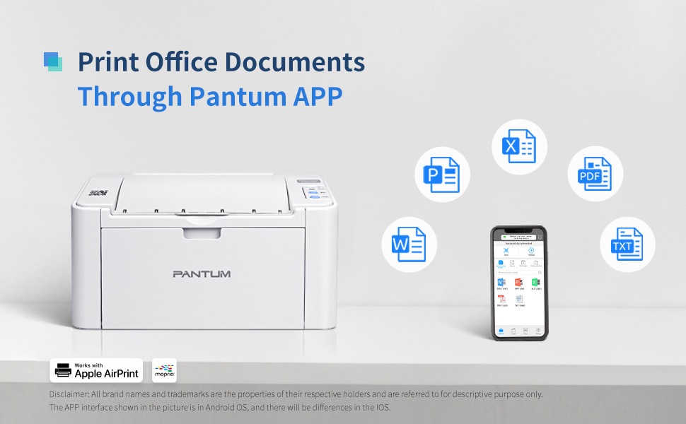 P2502W wireless black and white laser printer for home use