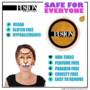water activated professional hypoallergenic FDA compliant vegan face and body paint for kids
