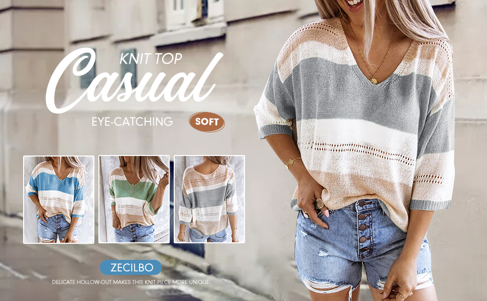 Womens V-Neckline Color Block Sweatshirt Casual Loose Regular Lace Blouse Ladies Fashion Tops
