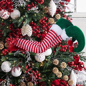 Christmas tree elf legs
