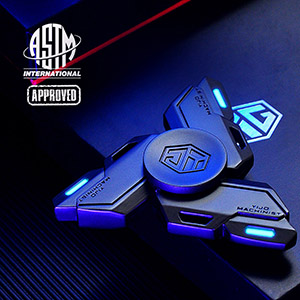 Fidget Spinners, Fidget Spinner Gifts for Adults and Kids, Stress Anxiety ADHD Relief Figets Toy, Metal Finger Hand Spinner Toys with Luminous Light, ...
