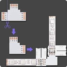 l shape led connectors