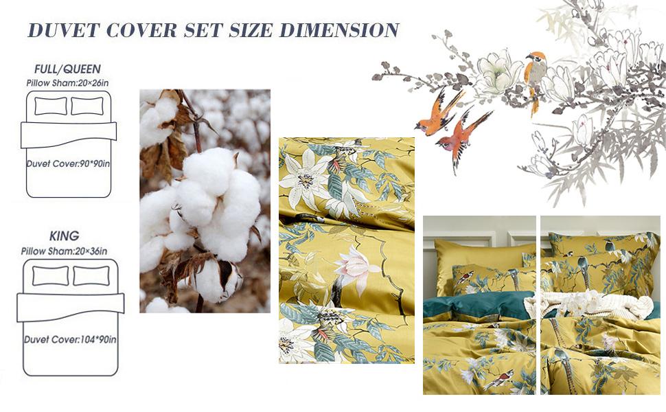 Floral Birds Duvet Cover Set