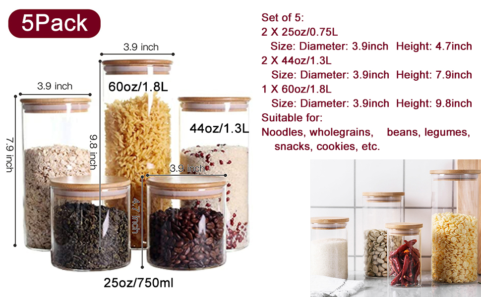 useful jars in several practical sizes