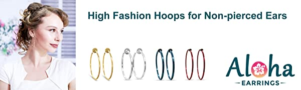 Fashionable Clip-on Hoops for Women