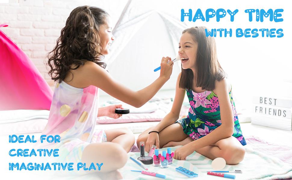 girls makeup kit for kids princess play makeup for little girls