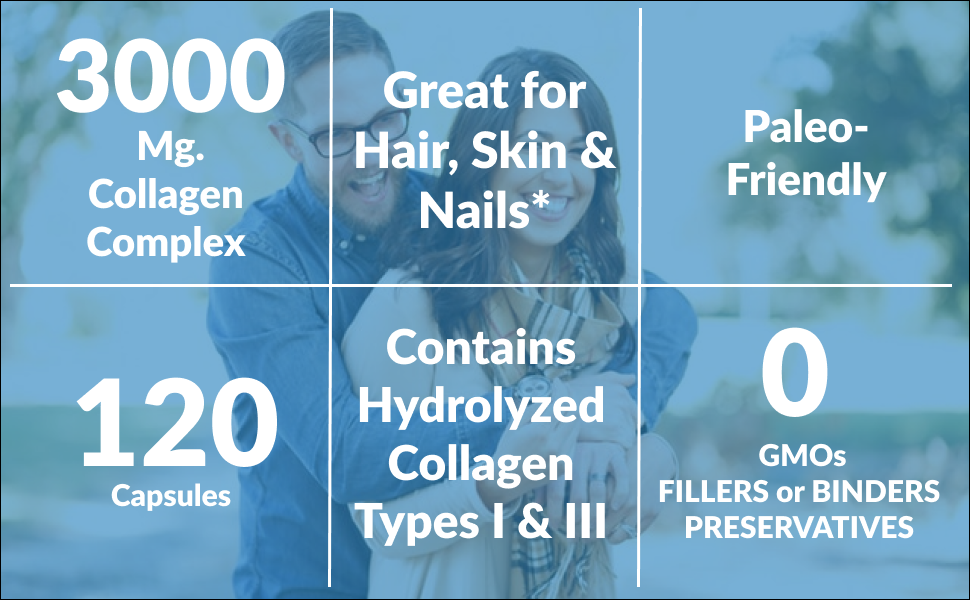 collagen complex great hair skin nails paleo-friendly gmp certified hydrolyzed collagen