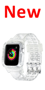 Clear transparent Apple watch bands
