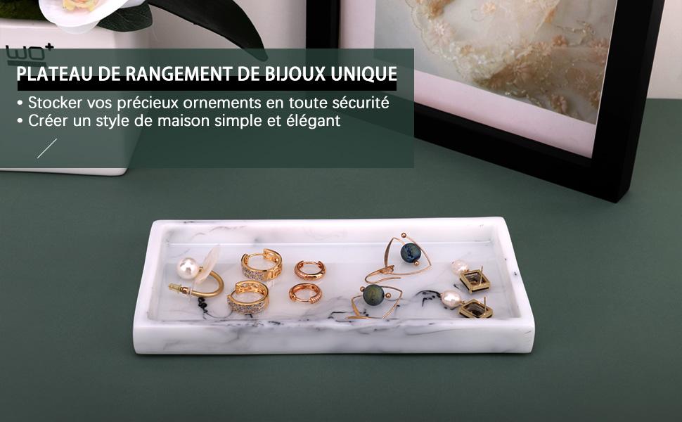 shampoing Bougies Finition Mate avec Cristaux /étincelants pour Bijoux cosm/étiques Blanc Encre parfums Emibele Plateau de Rangement pour Bijoux en r/ésine